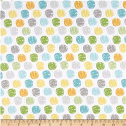 Sweet Meadow Flannel Dots White
