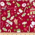 Riley Blake Home for the Holiday's Flannel Main Red
