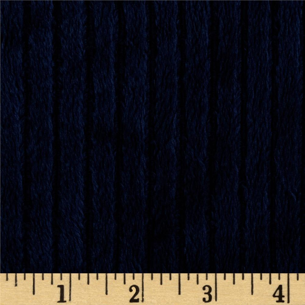 Shannon Minky Ribbon Cuddle Navy