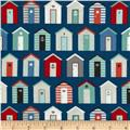 Nautical Beach Huts Blue