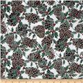 Berries and Blooms Metallic Pine Cones White/Silver