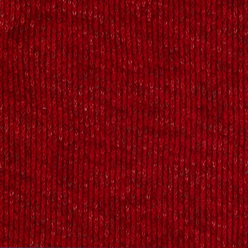 Faux Wool Sweater Knit Heather Red/Turquoise Specks