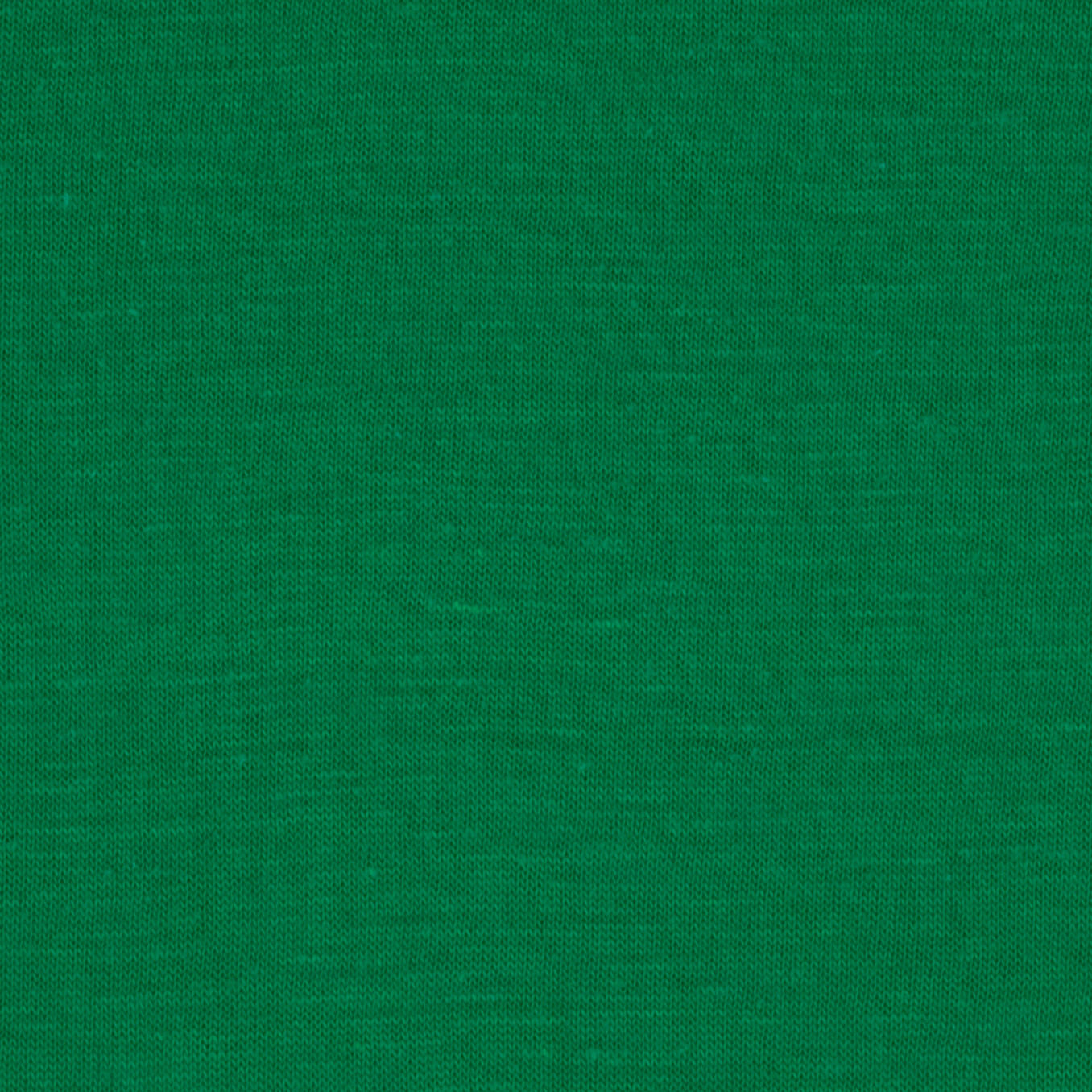 Cotton Blend Slub Jersey Knit Green Fabric