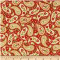 Season's Greetings 2013 Holiday Paisley Red