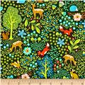 Peaceful Gathering Woodland Animals Green