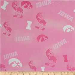 Collegiate Cotton Broadcloth Iowa Pink