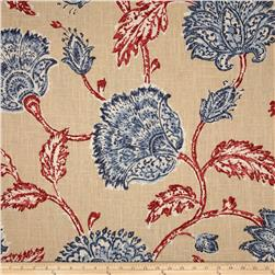 Duralee Home Agathe Floral Red/Blue