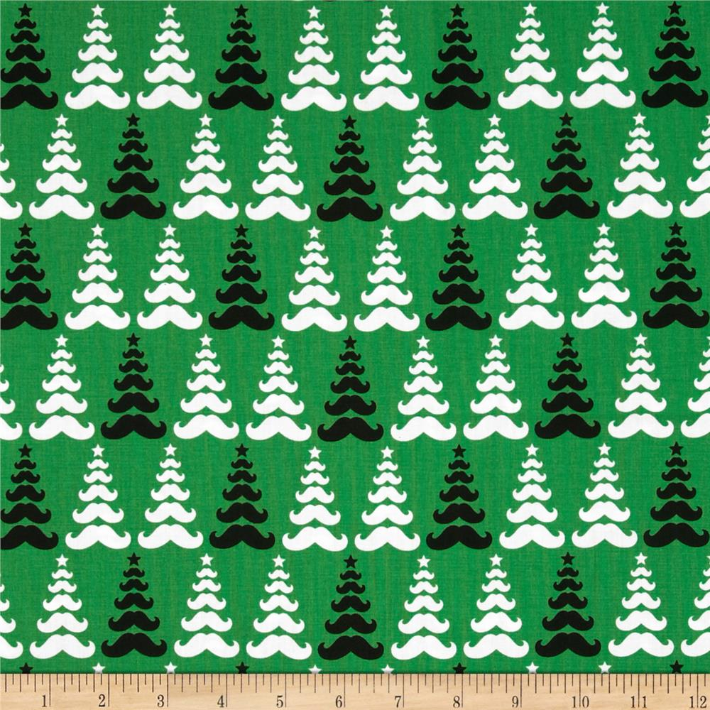 Merry Mustaches Mustache Tree Green