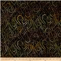 Artisan Batiks Elementals Geos Bubble Strings Black