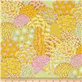 Kaffe Fassett Spring 2014 Collective Sun Oriental Trees Yellow