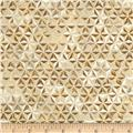 Robert Kaufman Winters Grandeur Metallic Honeycomb Grid Winter