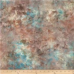 Timeless Treasures Tonga Batik Topaz Pine Needles Opal