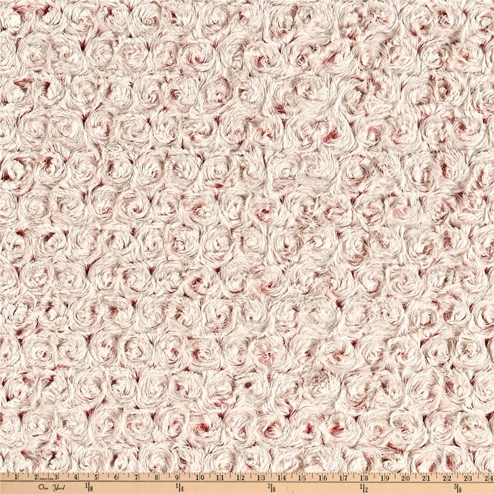 Minky Frosted Rose Cuddle Coral/Beige