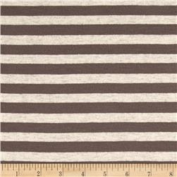 Jersey Knit Stripes Umber/Beige