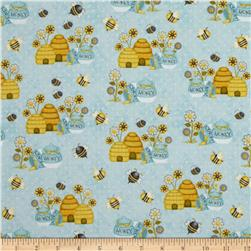 Honey Bee Mine Bee Hive Honey Pot Blue