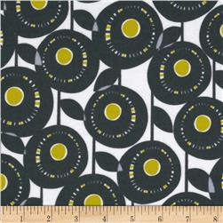 Michael Miller Pastel Pop Citron Gray Flannel Aretha
