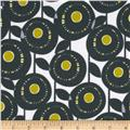 Michael Miller Pastel Pop Citron Gray Flannel Aretha Citron