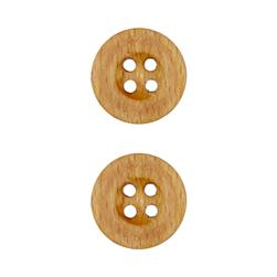 Dill Wooden Button 1'' Circle