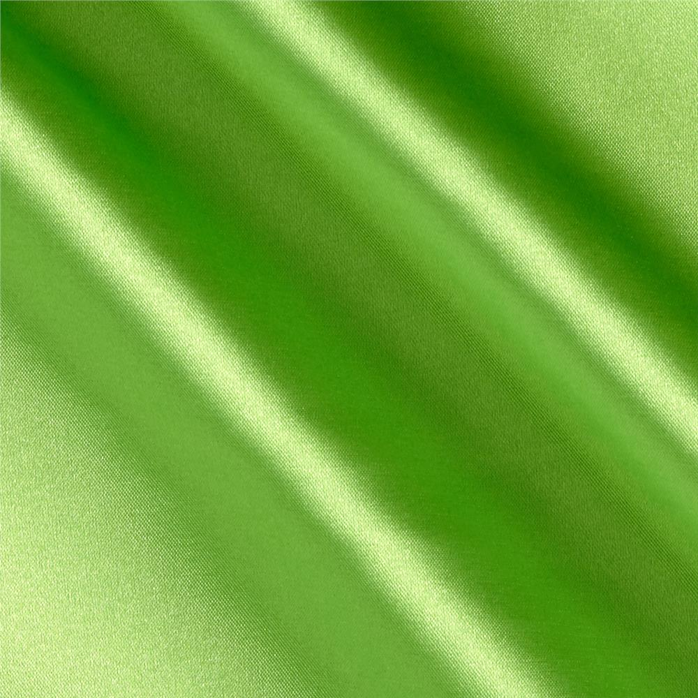 Stretch Charmeuse Lime Fabric