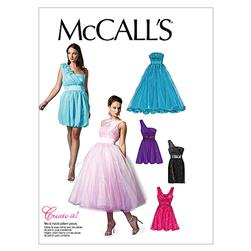 McCall's Misses' Lined Dresses and Flower Pattern M6466 Size AAX