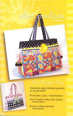 Ellen Medlock's Pocket Tote Pattern Booklet