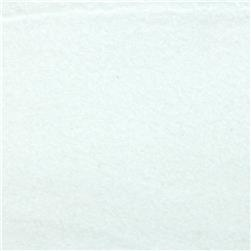 Fluffy Solids Flannel White