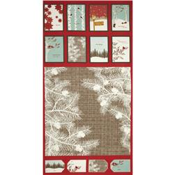 Moda Winter's Lane Holiday Panel Berry