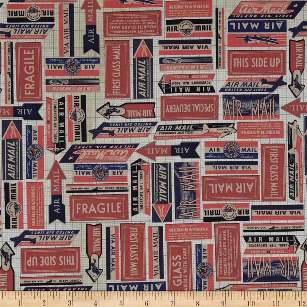 Tim Holtz Eclectic Elements Air Mail Red