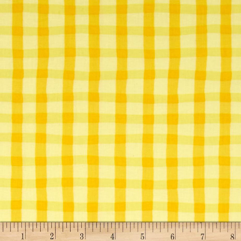 Animal ABC's Plaid Yellow