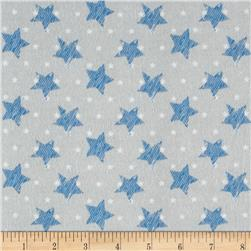 Comfy Flannel Stars Light Gray