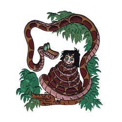 Disney Jungle Book Iron On Applique Kaa W/Mowgli