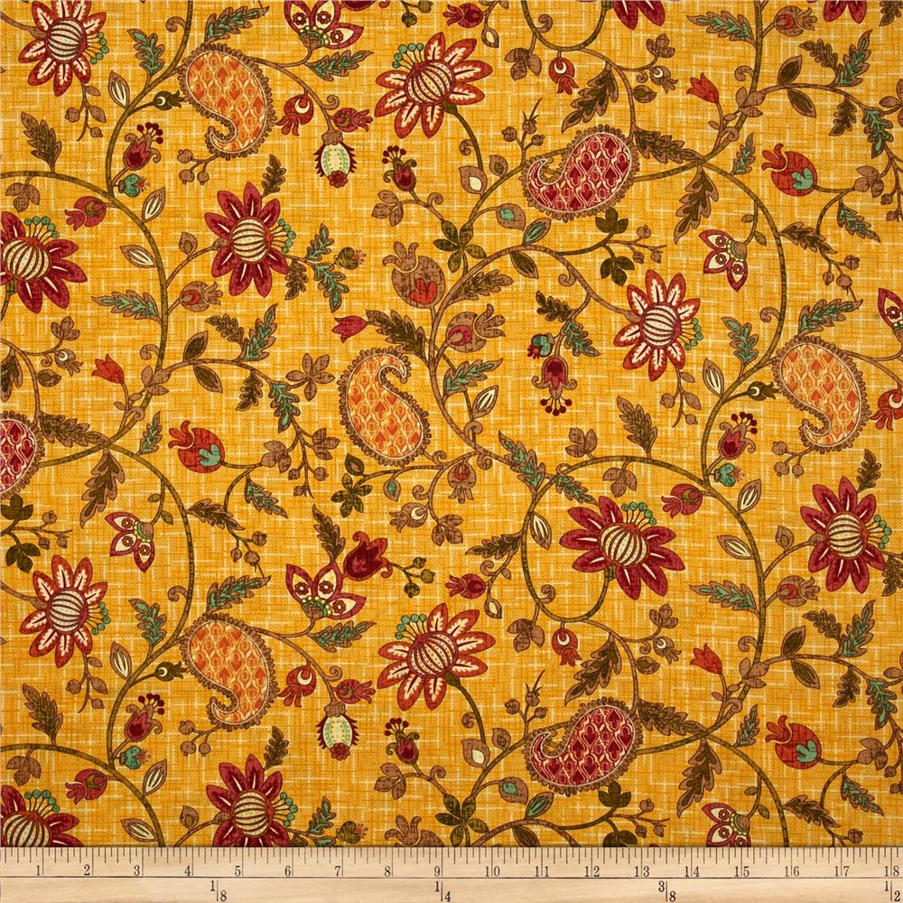 Autumn Elegance Jacobean Paisley Maize