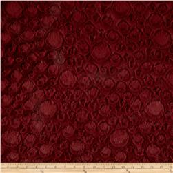 Minky Soft Stone Cuddle Garnet Fabric