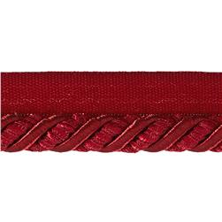 "Helena 3/8"" Decorative Lip Cord Trim Berry"