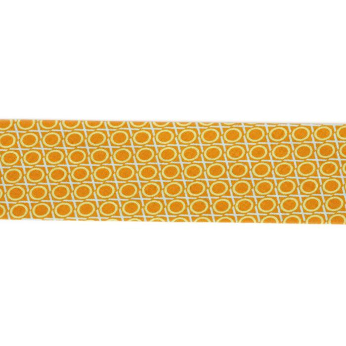 Anna Maria Horner LouLouThi Bias Binding 2-1/4'' Single Fold Hugs & Kisses Scotch Orange