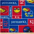 Collegiate Fleece University of Kansas Blocks