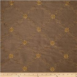 World Wide Celine Embroidered Diamond Taffeta Chocolate