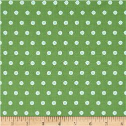 Hello Jane Flower Dot Green