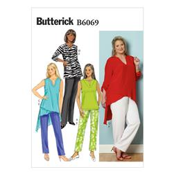 Butterick Women's Tunic and Pants Pattern B6069 Size RR0