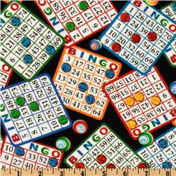 Timeless Treasure Bingo Black Fabric