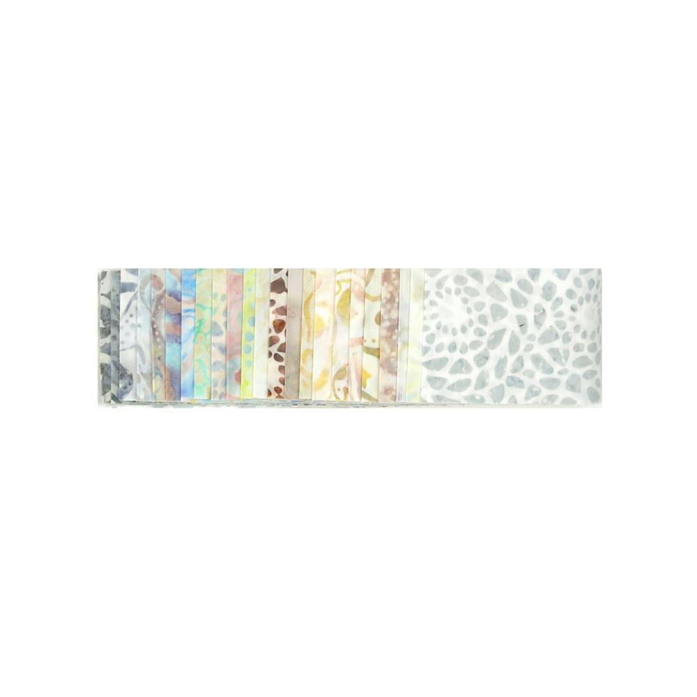 Batavian Batiks Jewels White Noise Strips
