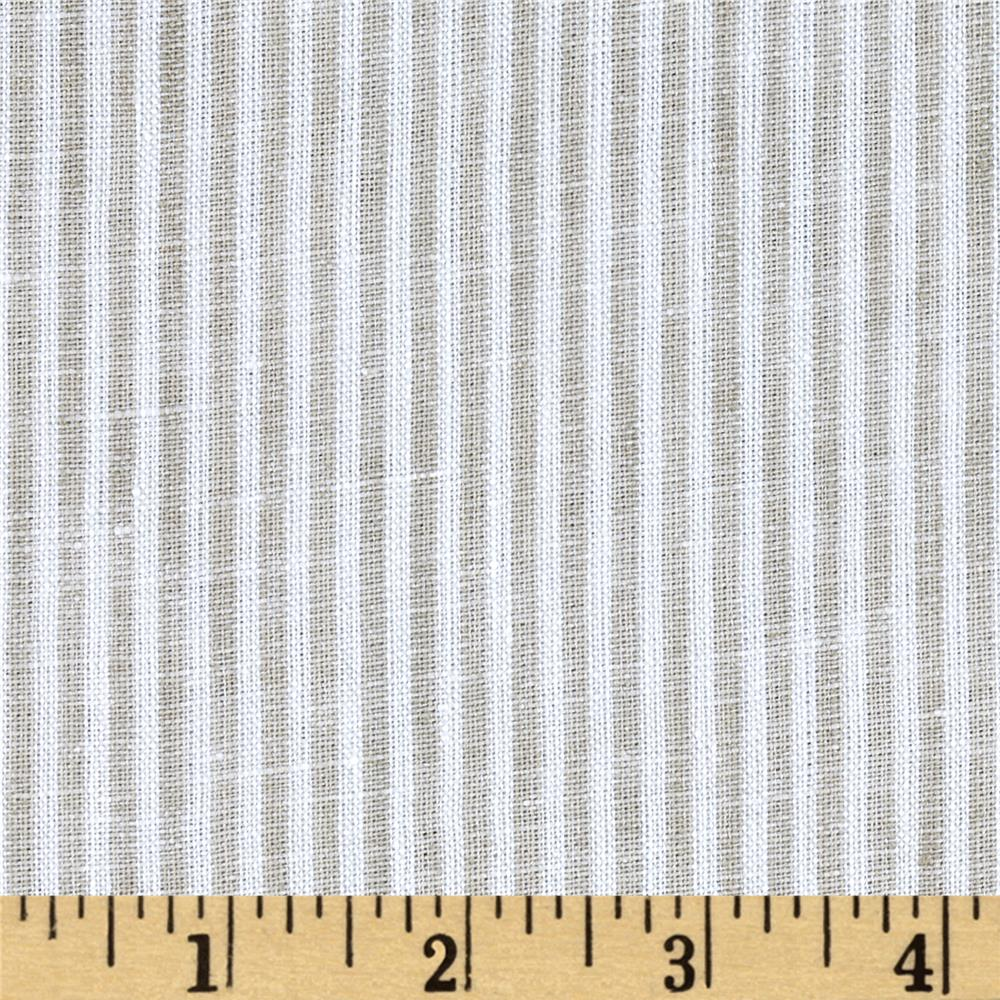 Telio Umbria Linen Taupe Big Stripe