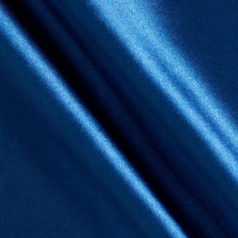 Costume satin dark blue discount designer fabric for Satin fabric