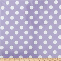 Riley Blake Laminated Cotton Medium Dots Lavendar/White