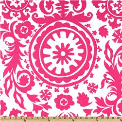 Premier Prints Suzani White/Candy Pink Fabric