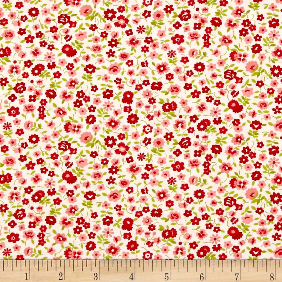 Moda Vintage Picnic Wildflowers Cream