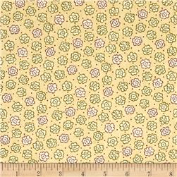 Moda Print Charming Etched Flowers Cream