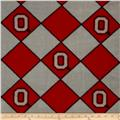 Collegiate Fleece Ohio State University Argyle Red