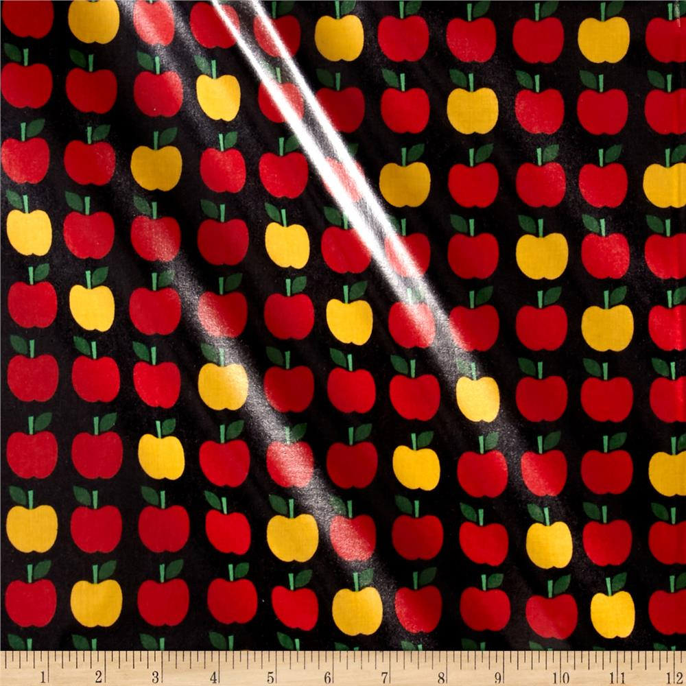 Kaufman Back to School Slicker Laminated Cotton Apples Jet