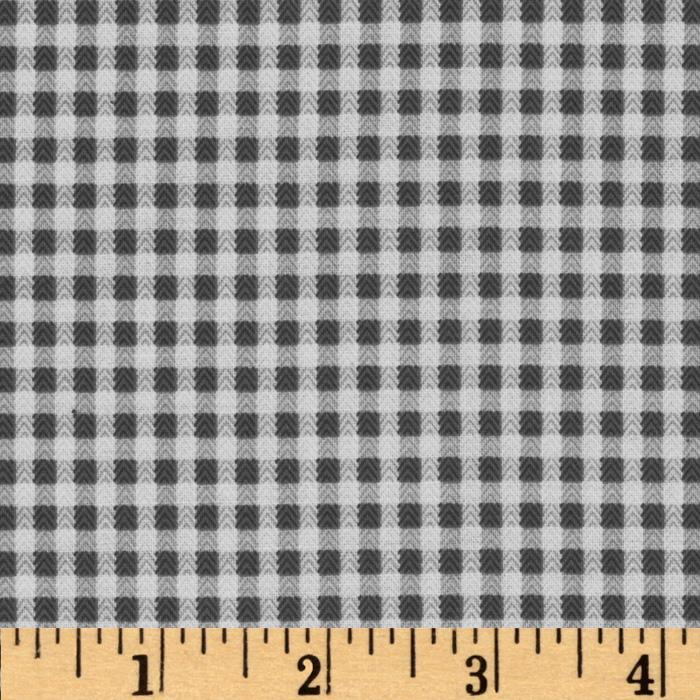 Baby Business Herringbone Check Dark Grey